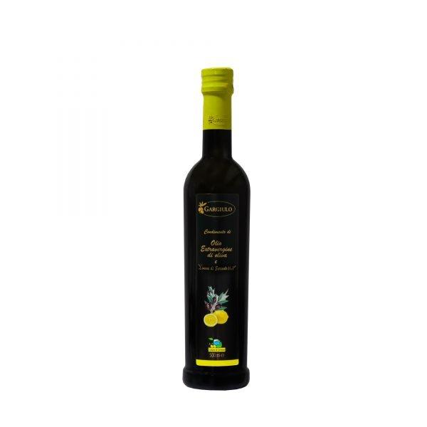 Olio extravergine d'oliva Aromatizzato al limone formato bottiglia 500ml