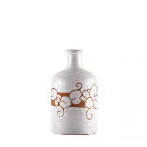 Orcio collezione floreale terracotta bianco formato cilindro